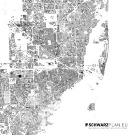 Schwarzplan von Miami