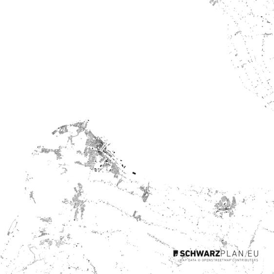 Schwarzplan von Cuxhaven