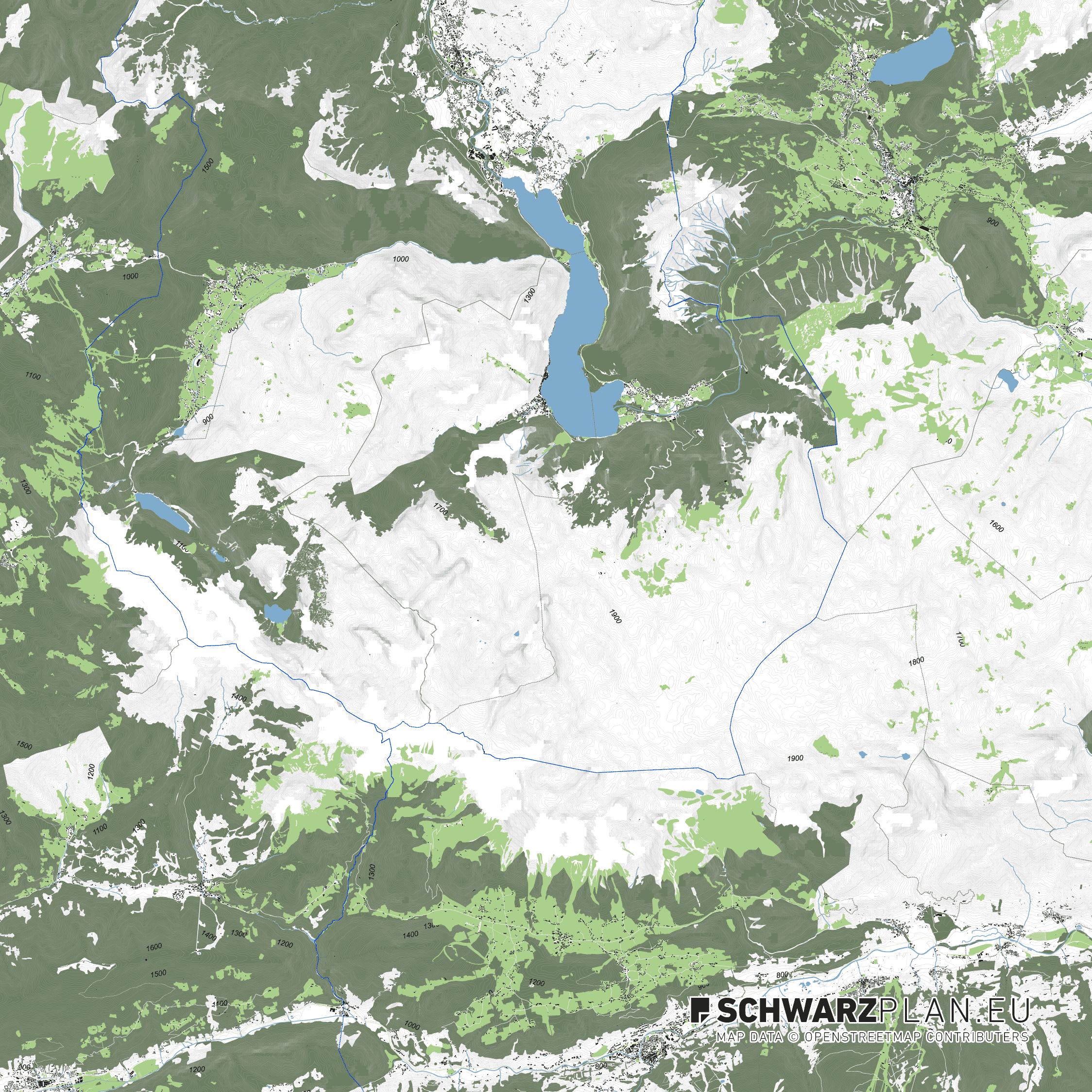 Lageplan von Hallstatt Schladming in Österreich