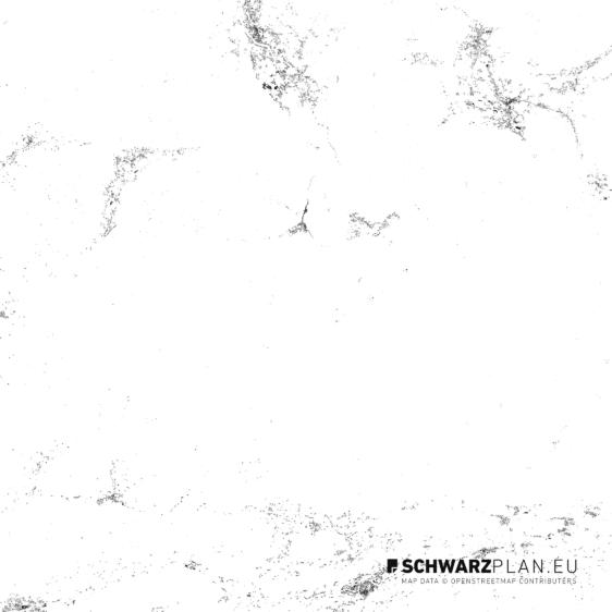 Schwarzplan von Hallstatt Schladming in Österreich