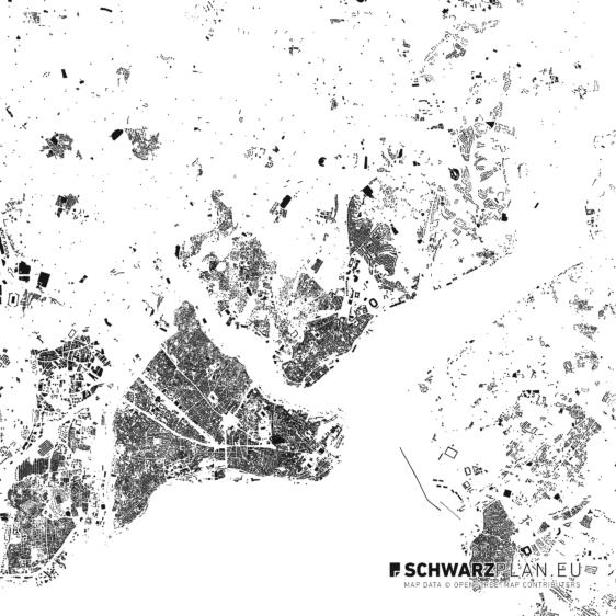 Schwarzplan von Istanbul