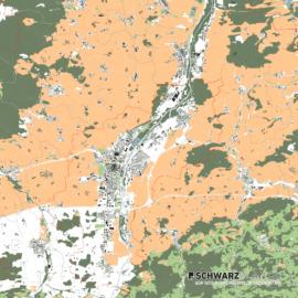 Lageplan von St. Pölten in Österreich