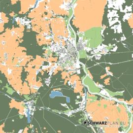Lageplan von Frankfurt an der Oder