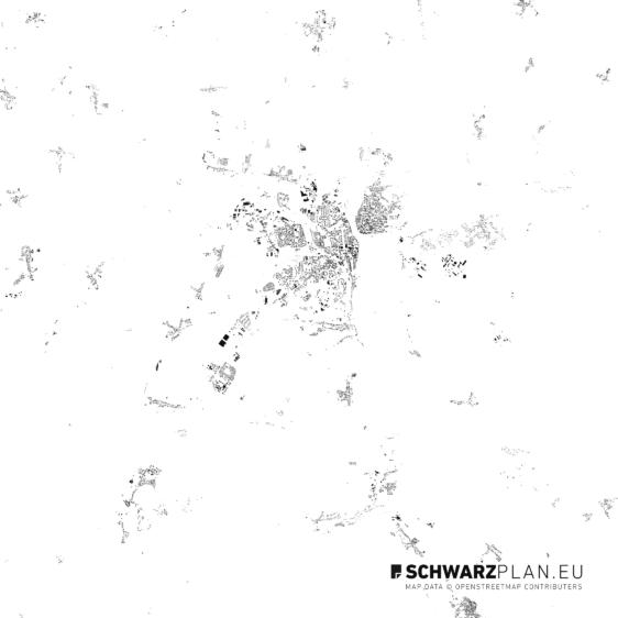 Schwarzplan von Frankfurt an der Oder