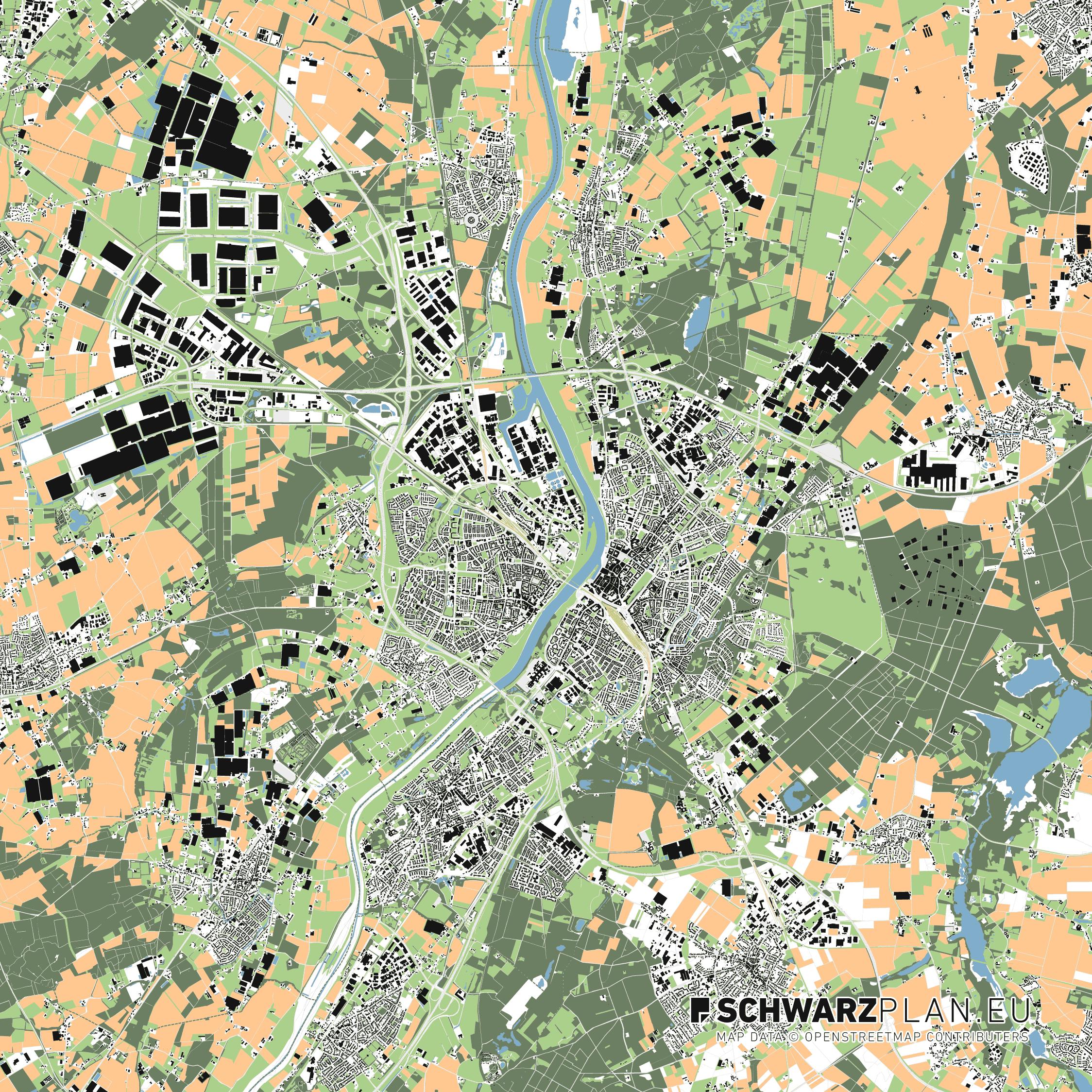 Lageplan von Venlo