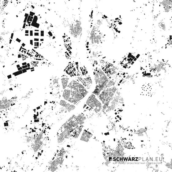 Schwarzplan von Venlo