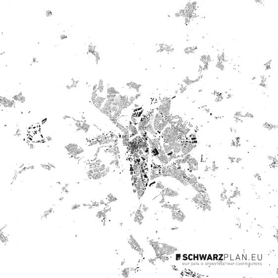 Schwarzplan von Fulda