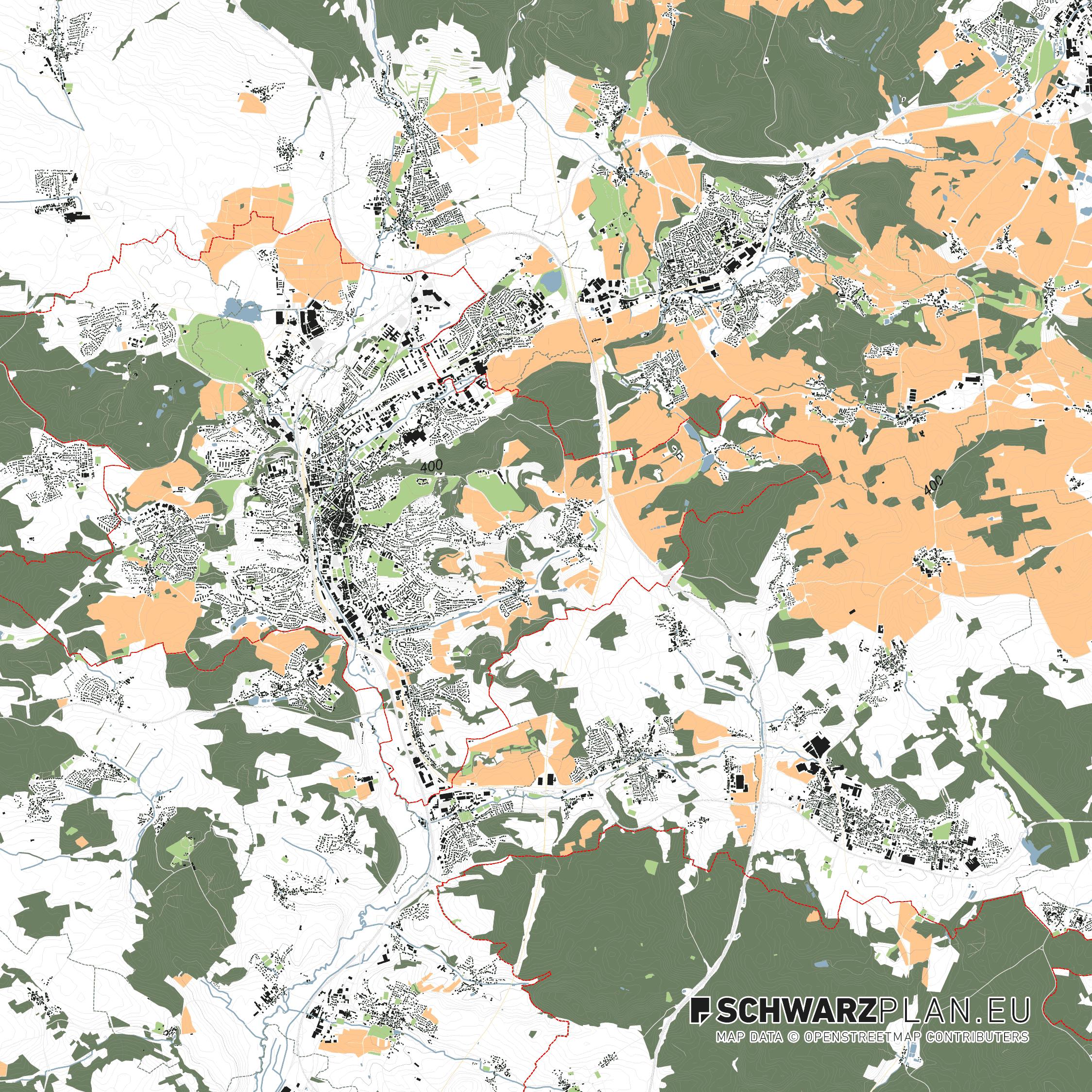 Lageplan von Coburg