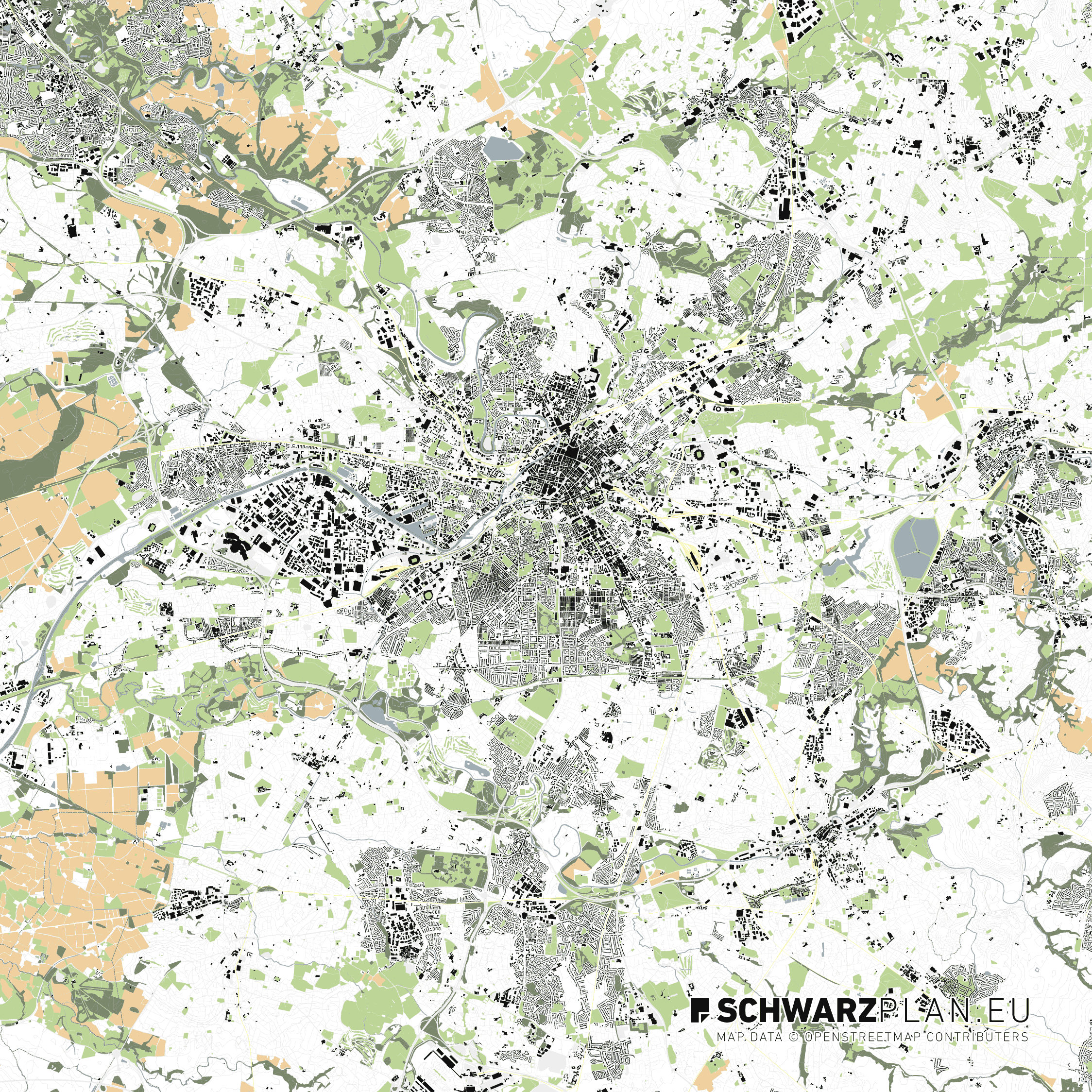Lageplan von Bietigheim-Bissingen
