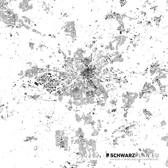 Schwarzplan von Bietigheim-Bissingen