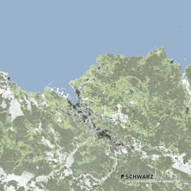 Lageplan von Bilbao in Spanien