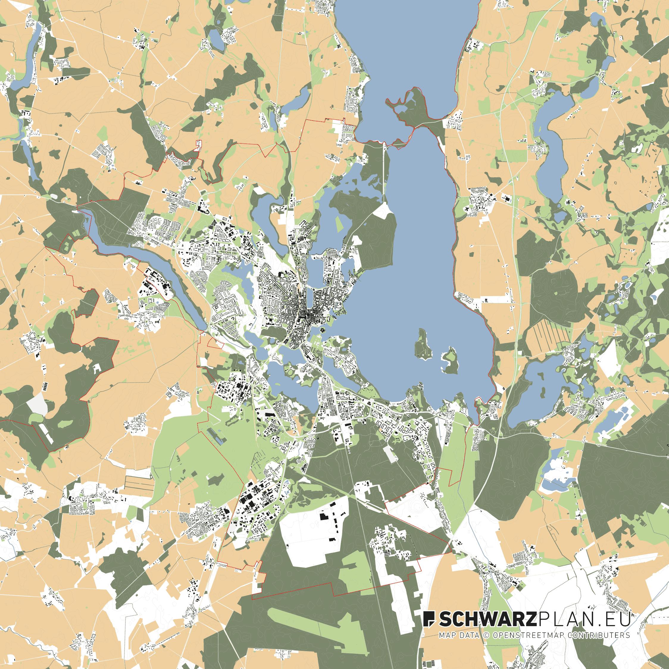 Lageplan von Schwerin
