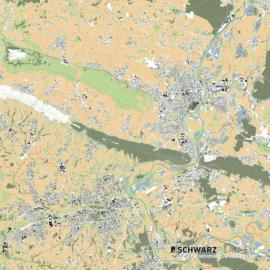 Lageplan von Minden und Bad Oeynhausen