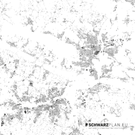 Schwarzplan von Minden und Bad Oeynhausen